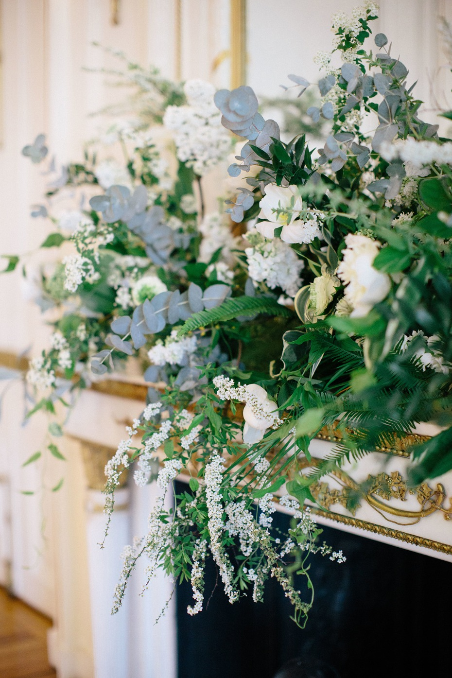 over grown wedding floral decor