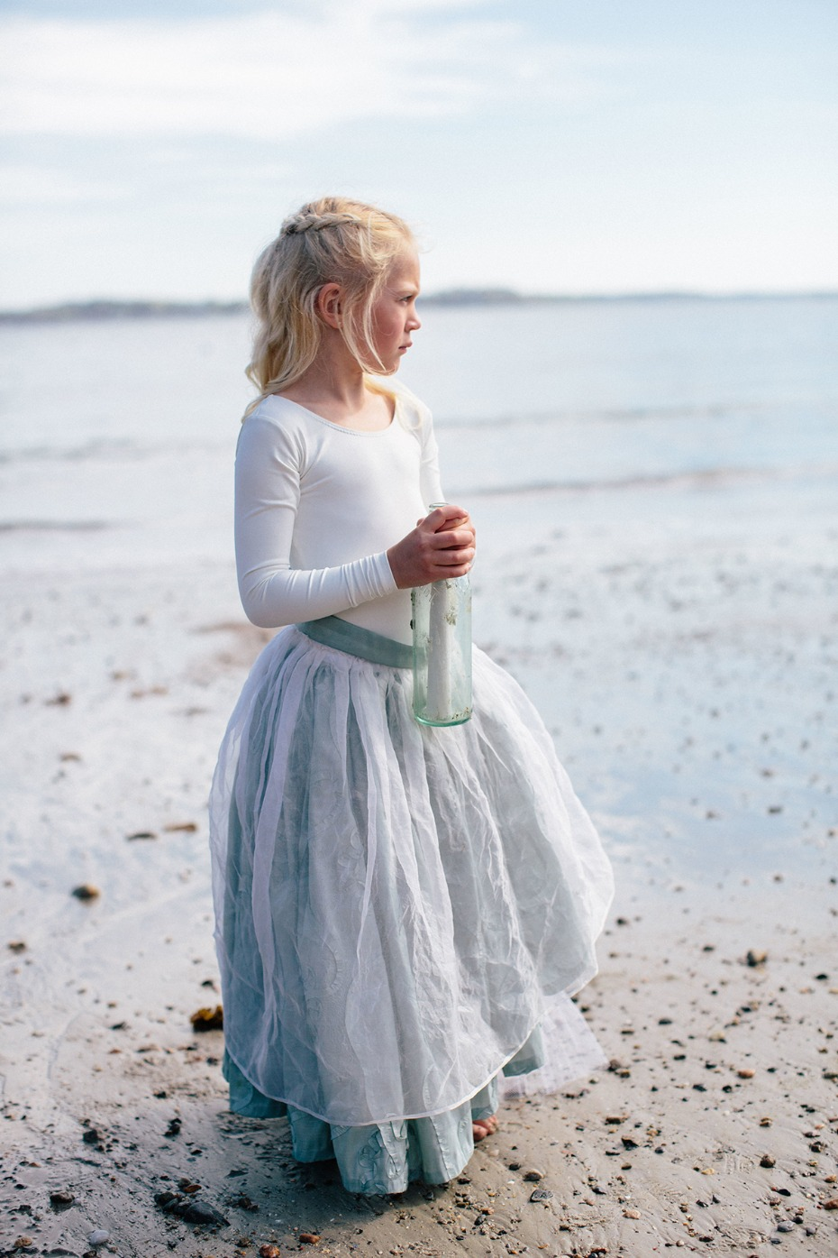 a message in a bottle flower girl beach style