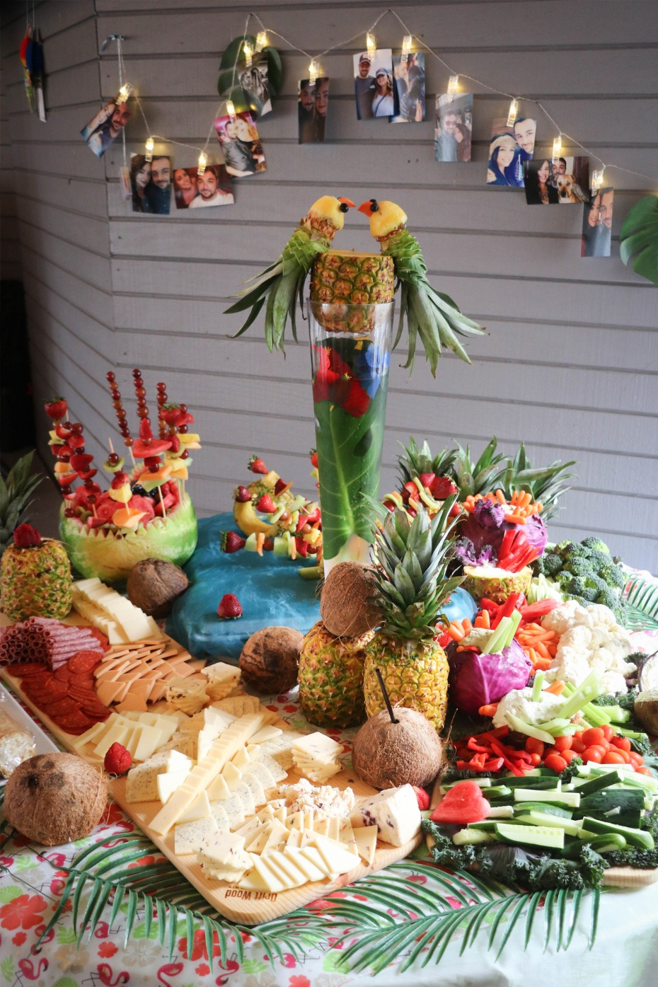 DIY tropical themed bridal shower