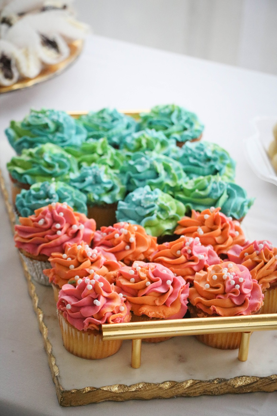 festive colorful cupcakes