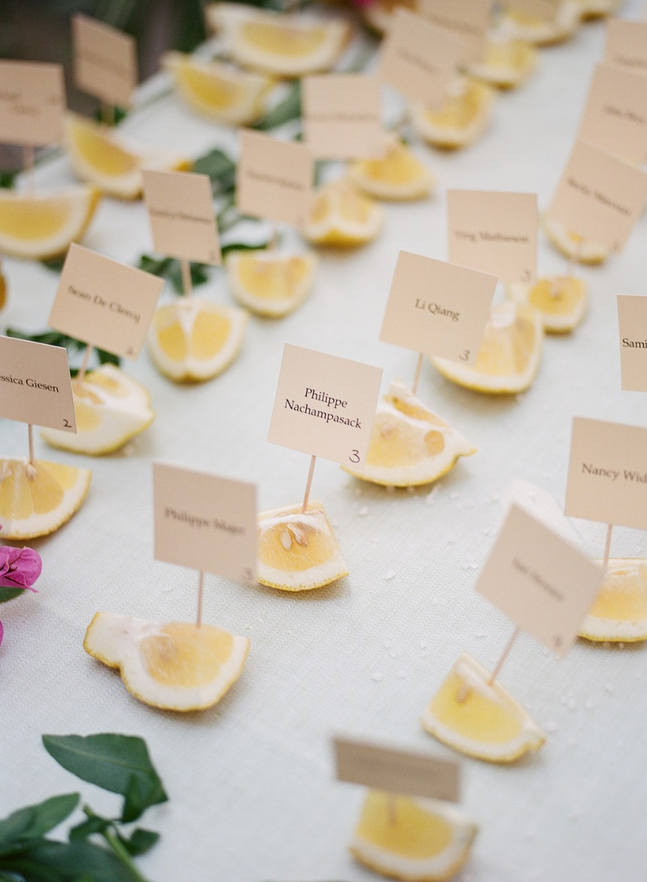 Lemon slice place cards