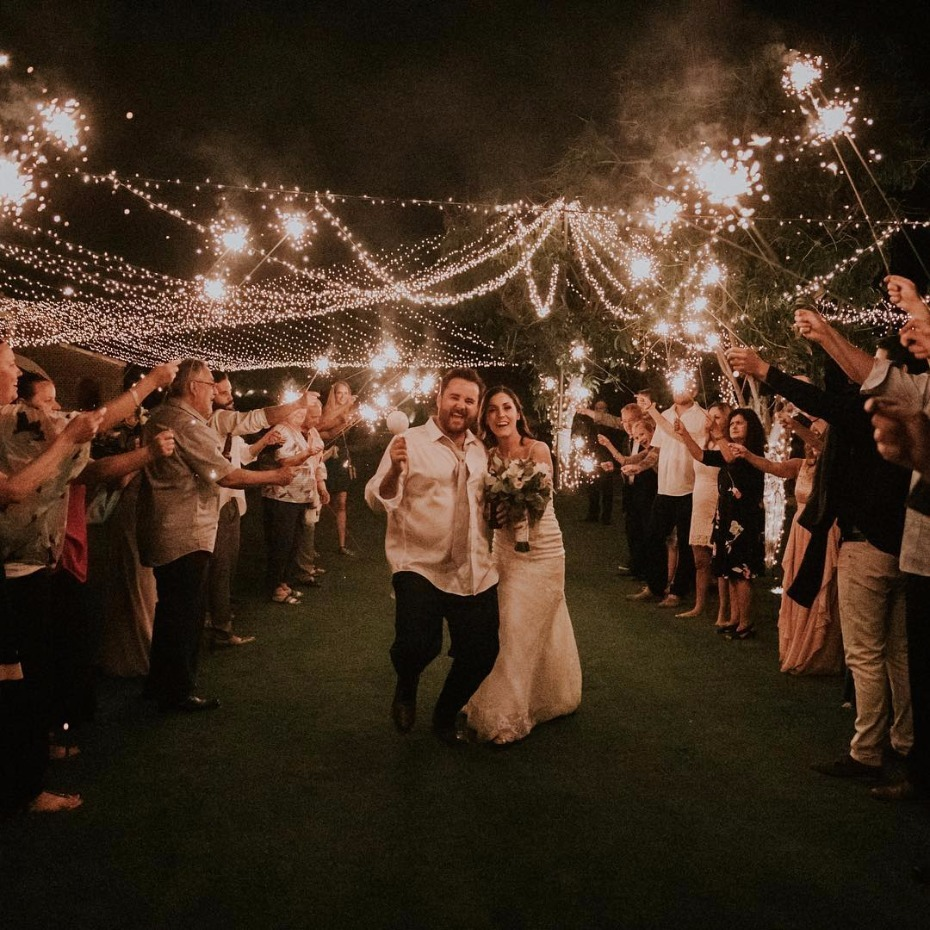 sparkler exit for your wedding