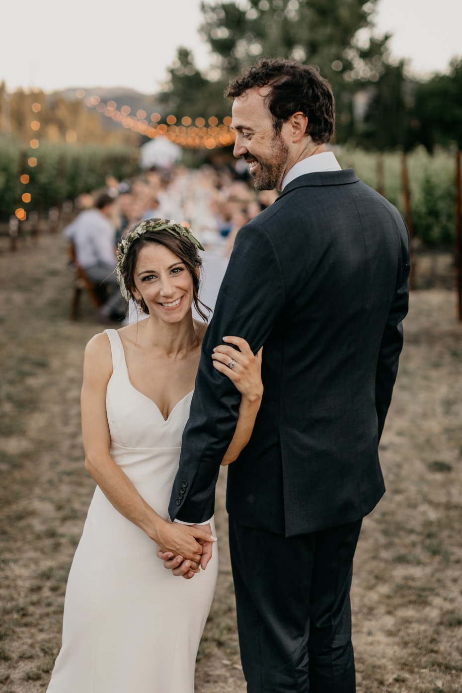 Beautiful family vineyard wedding