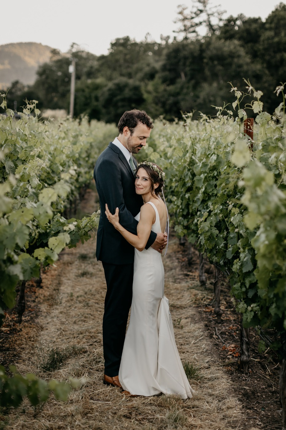 Family Vineyard wedding