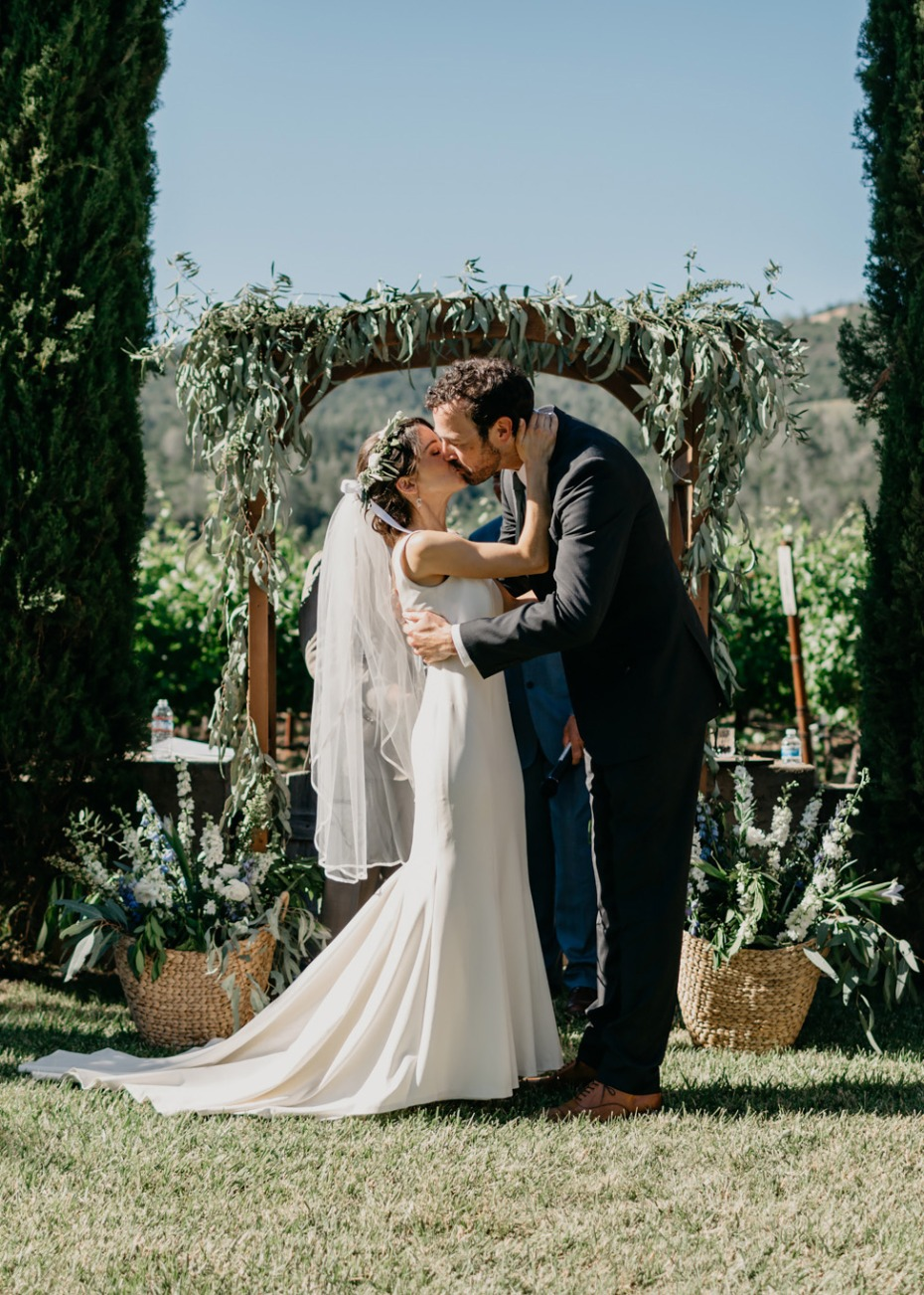 Beautiful vineyard wedding