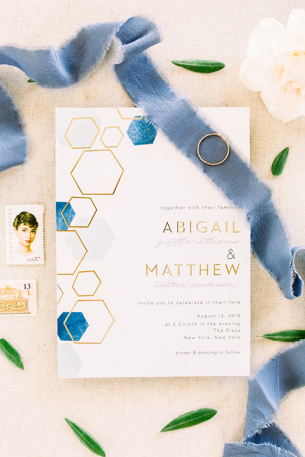 Make your modern bridal dreams come true with this geometric watercolor design.