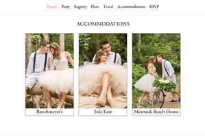 Customizable Wedding Websites from Riley & Grey