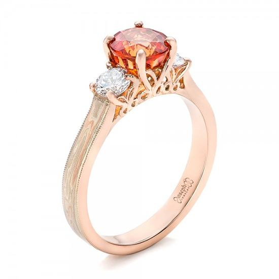 Unique Mokume Engagement Rings from Joseph Jewelry