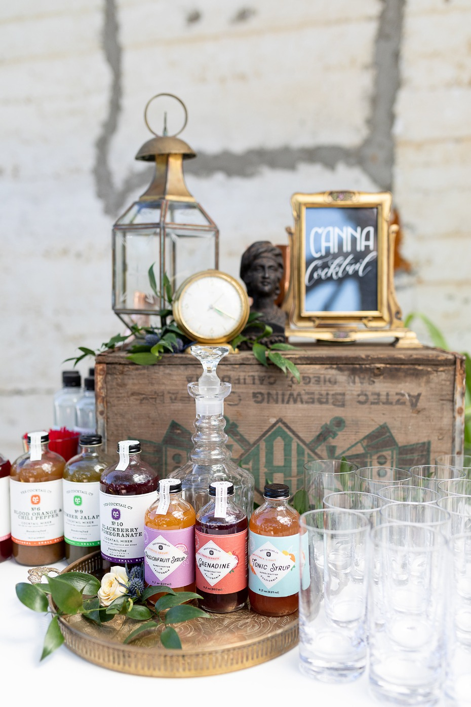 Canna cocktails for a cannabis infused wedding