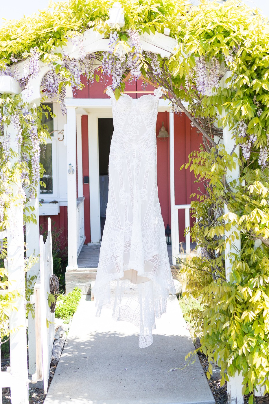 Lacey boho wedding dress from Rue De Seine