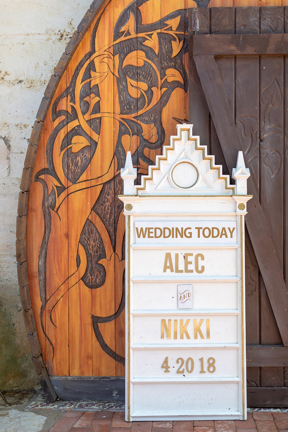 Cool wedding sign