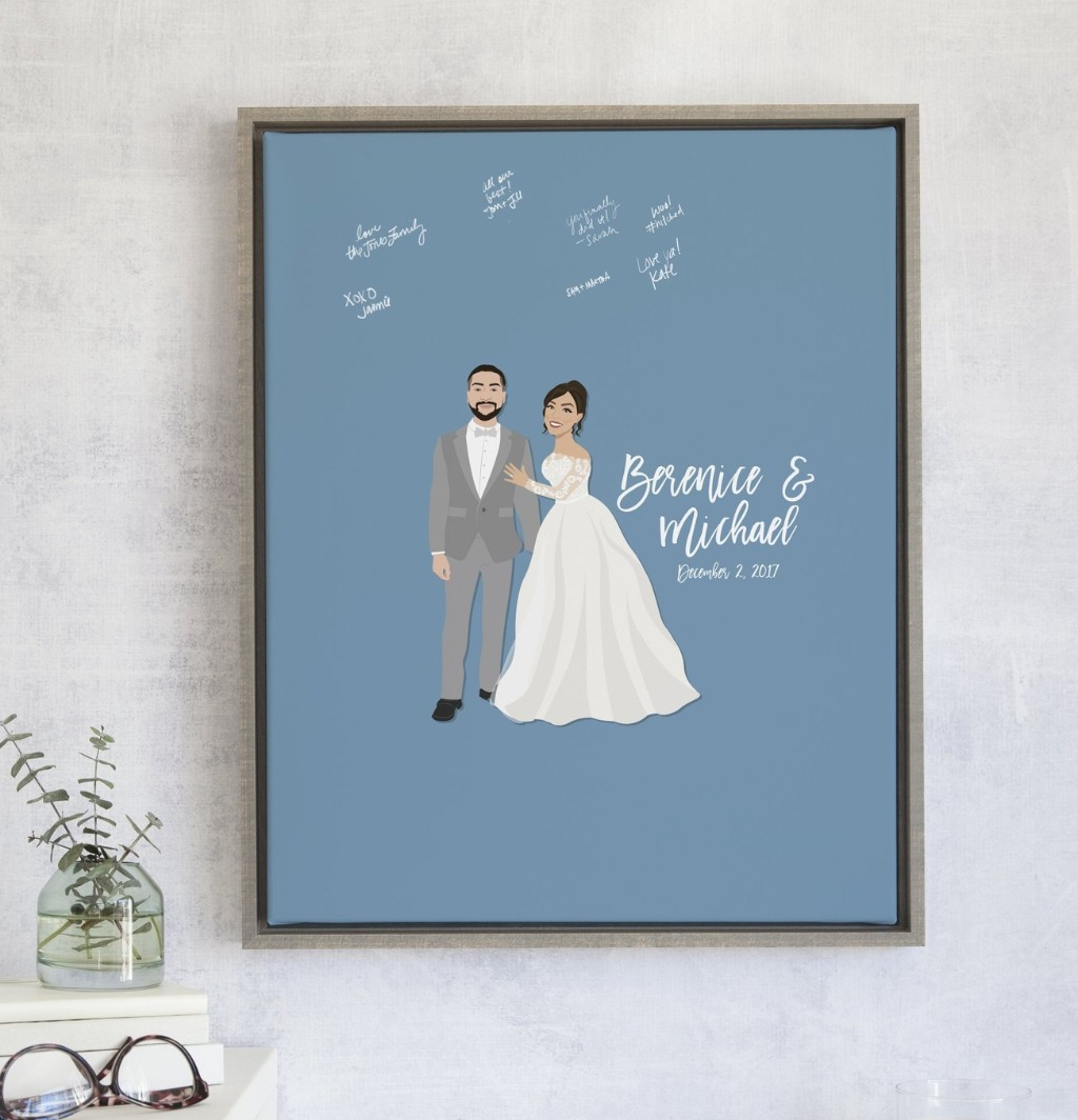 If you're in love with The Penny Couple Portrait design, but it's a little too plain for you, this one will definitely knock your socks