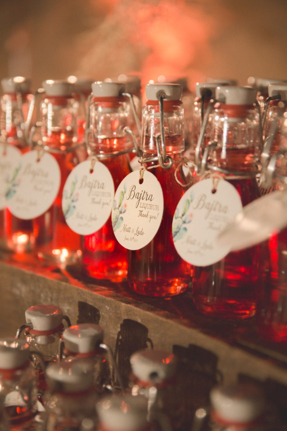 Liqueur wedding favors