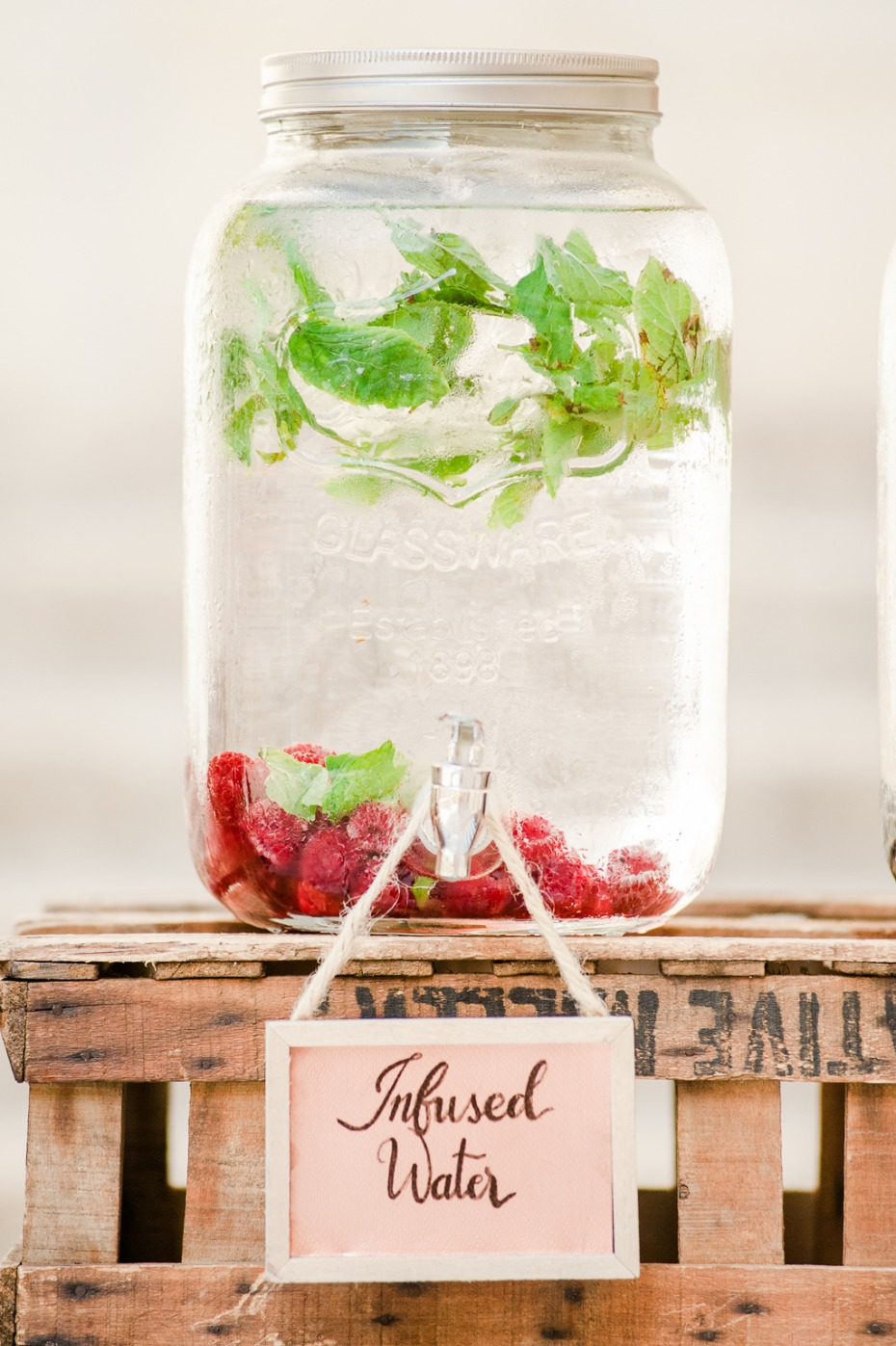 Infused water for a wedding