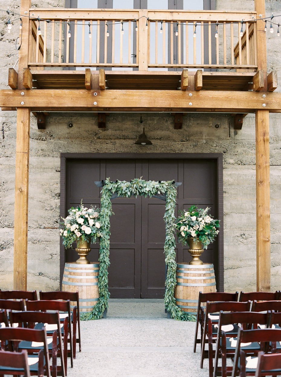 Beautiful rustic ceremony