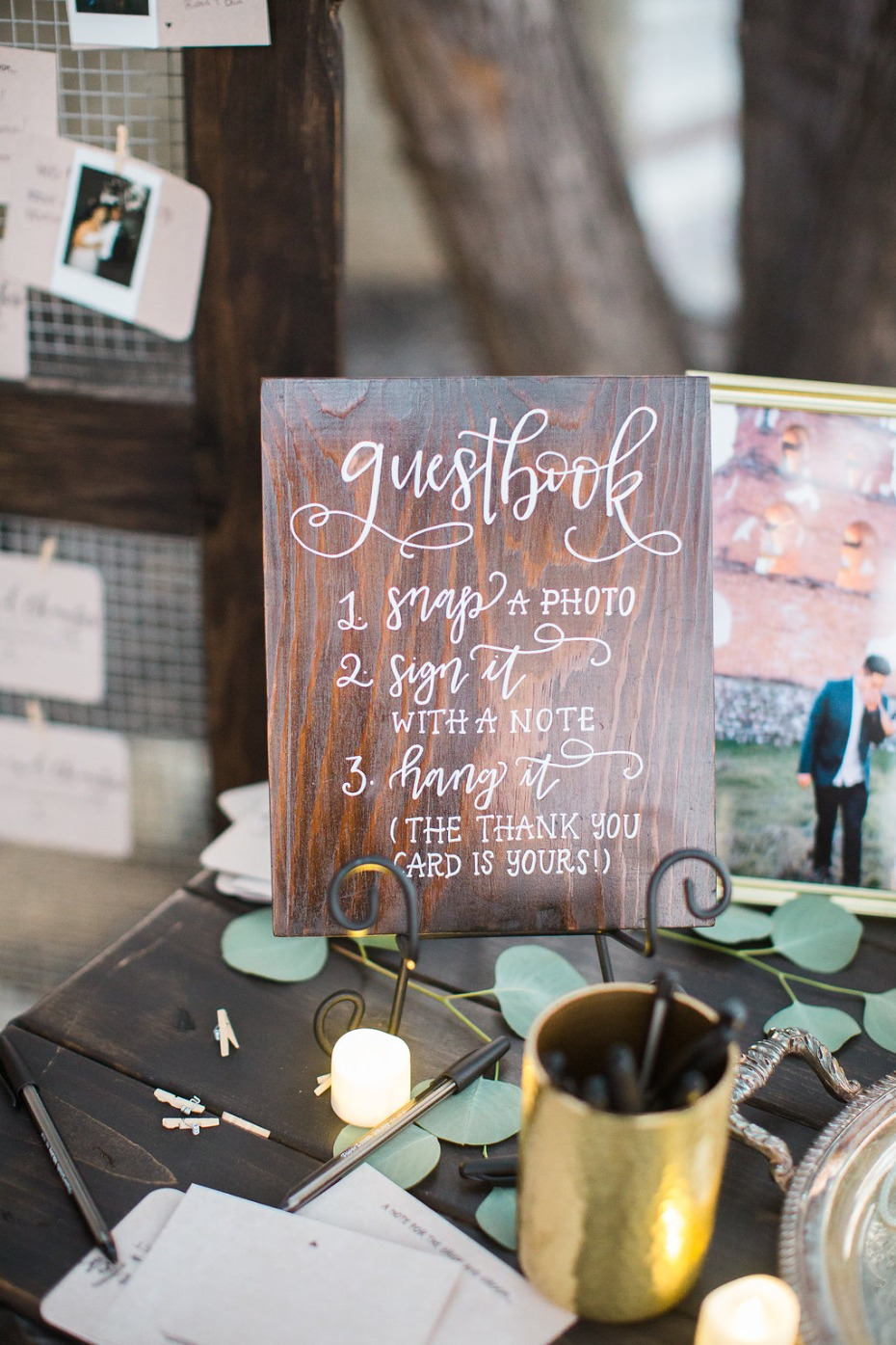 Have a polaroid guest book