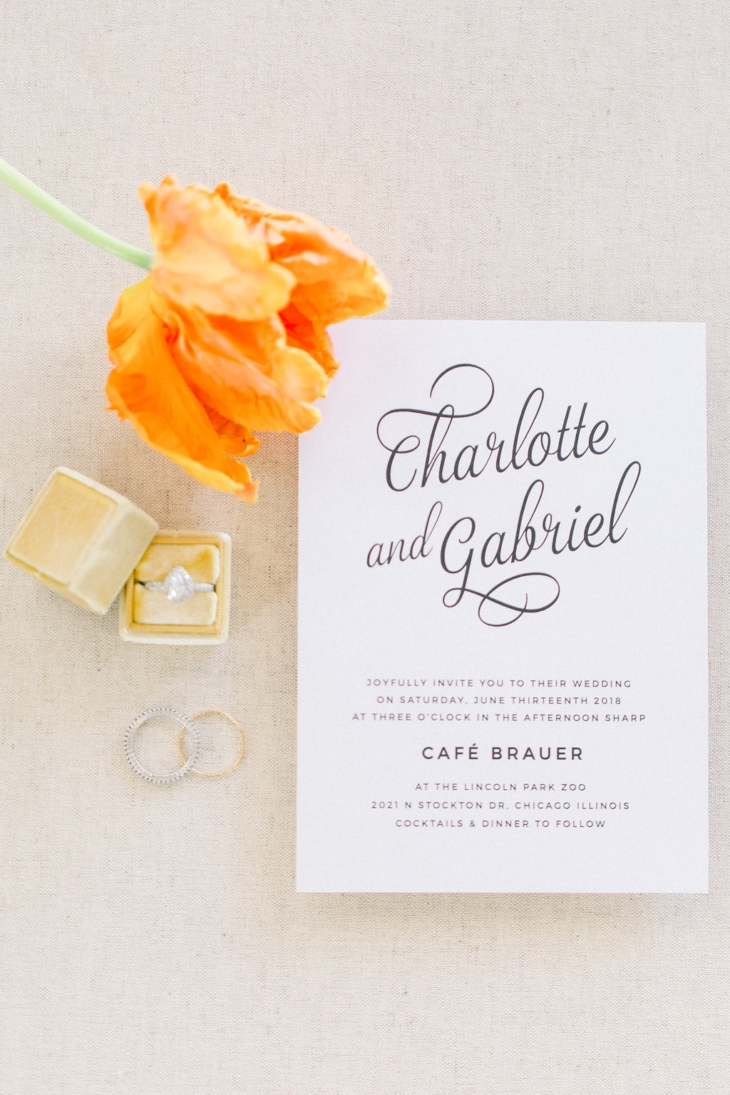 Opt for a timeless wedding invitation to keep as a memento from your special day. This Script Emblem Wedding Invitation is the perfect