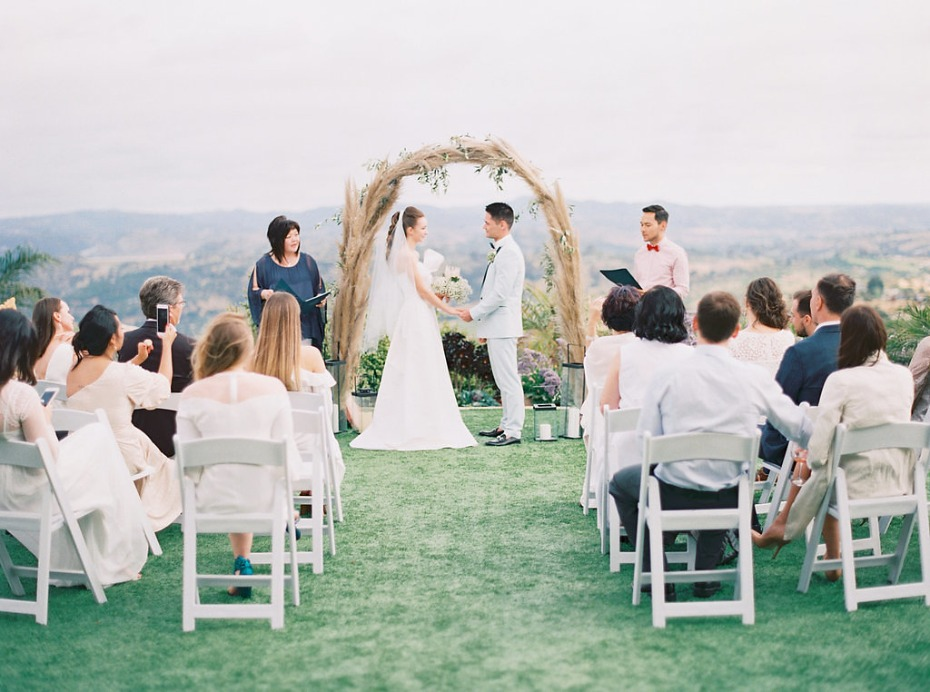 Outdoor ceremony in San Diego