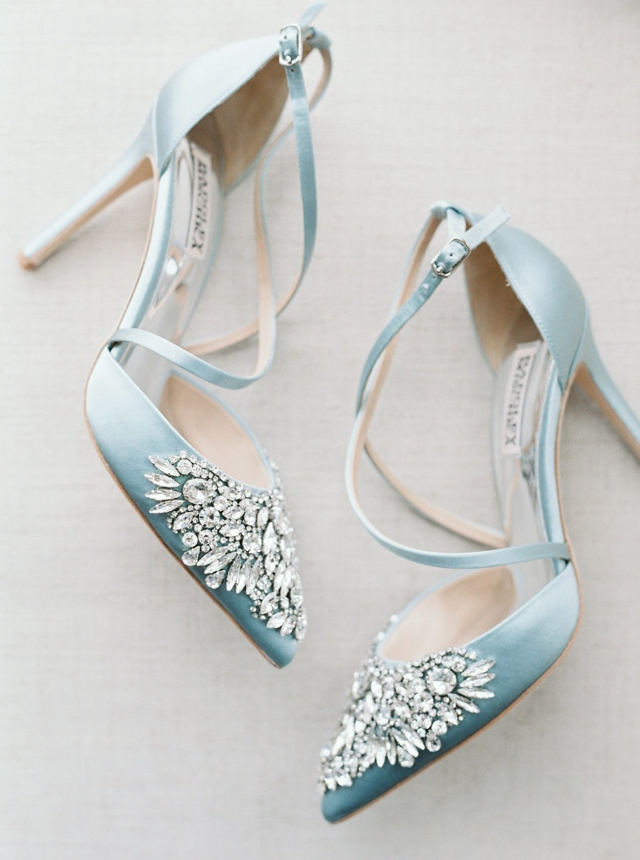 """""""Something blue"""" heels for the bride"""