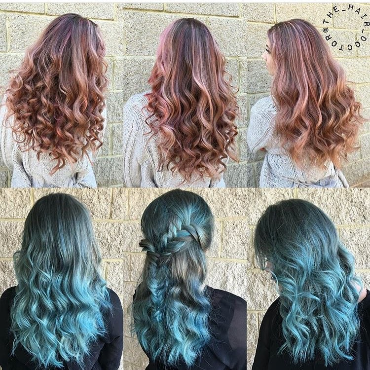 Mermaid Inspired 😍Gorgeous hair color and styles by one of our favorite stylists