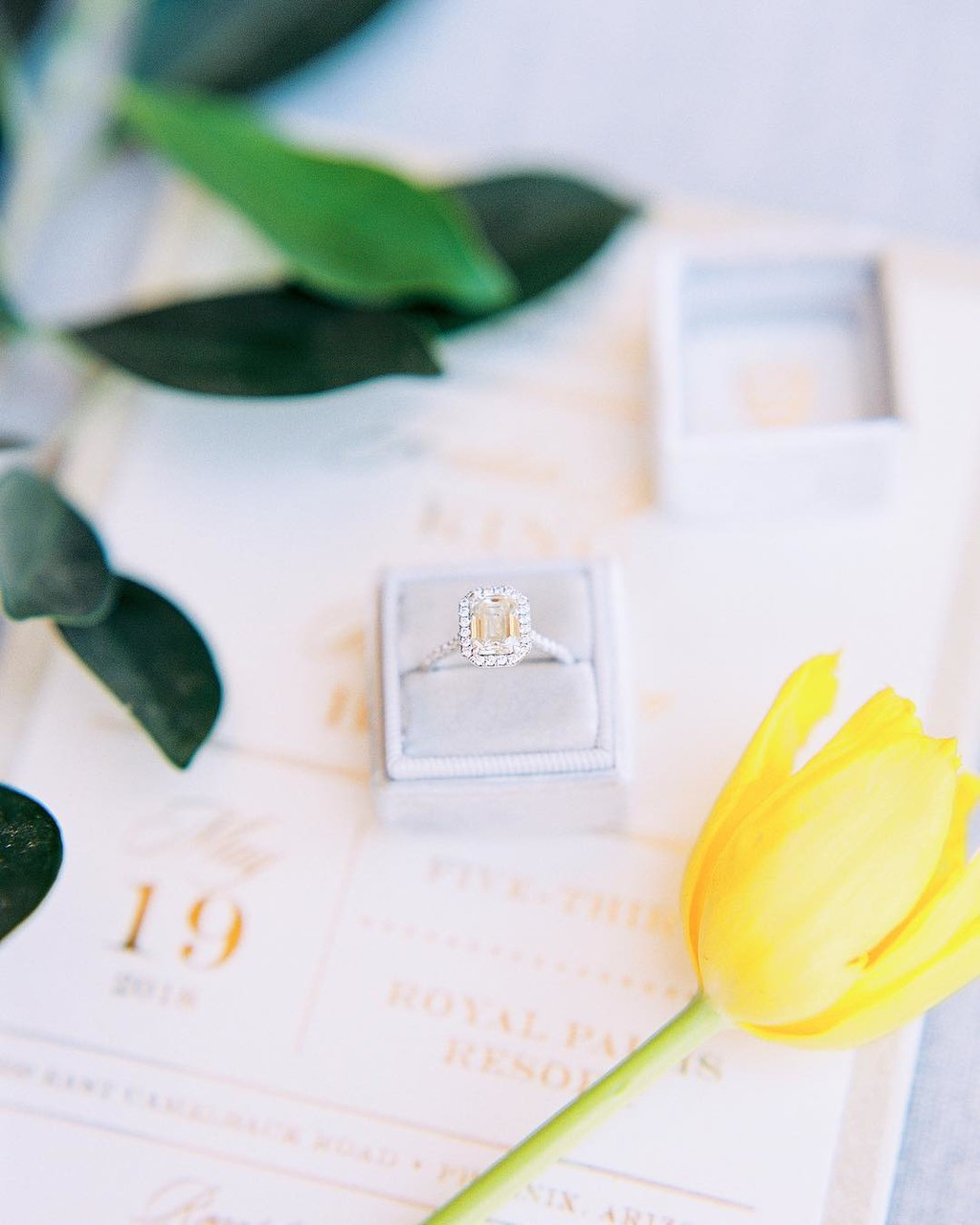 Stunningly timeless emerald cut engagement ring! ##theknot