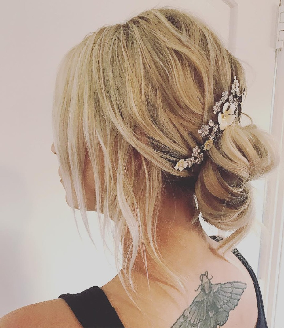 Kaley Cuoco Wears Jennifer Behr Headpiece at Wedding
