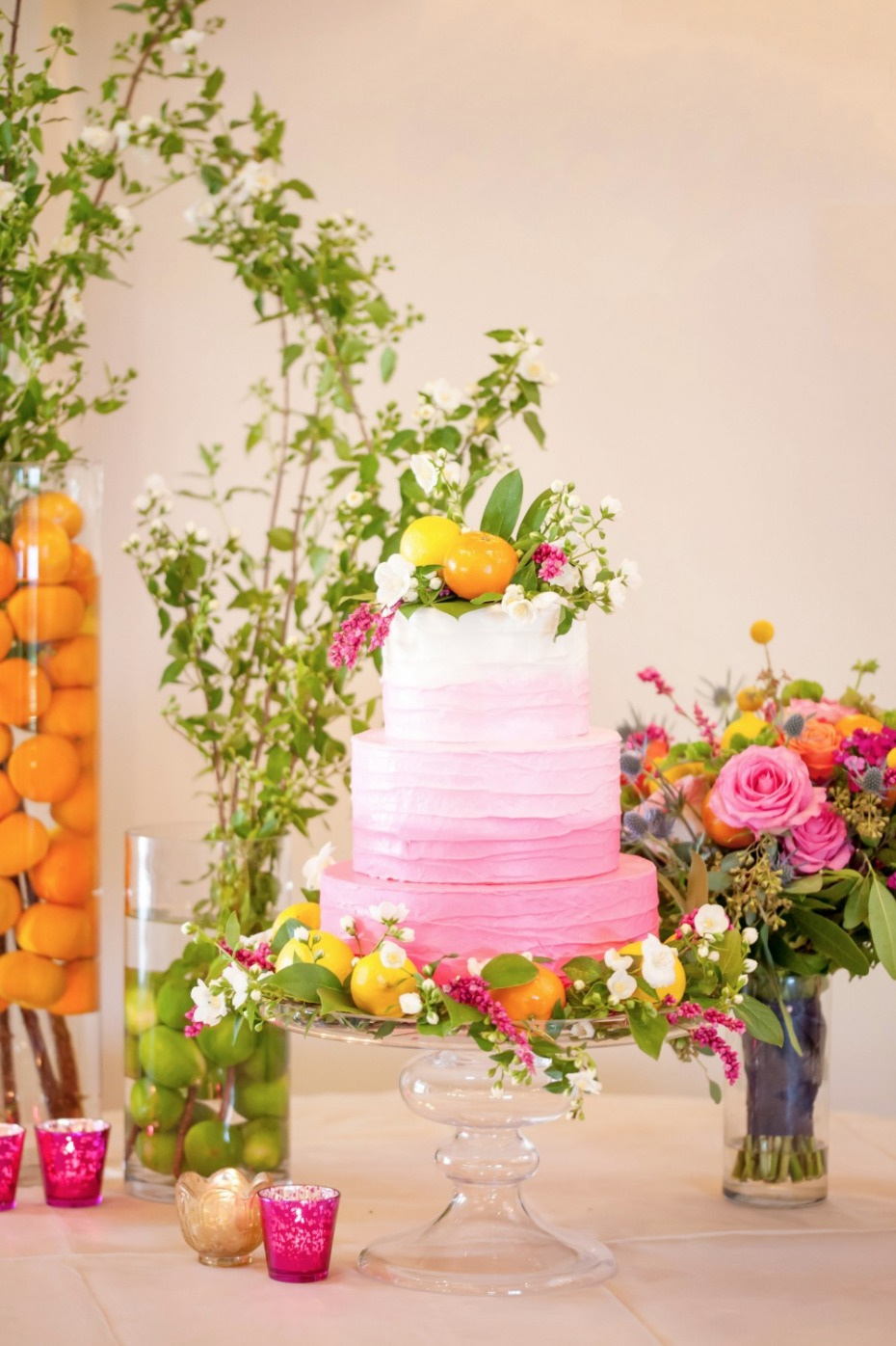 Pink Ombre Summer Wedding Ideas.