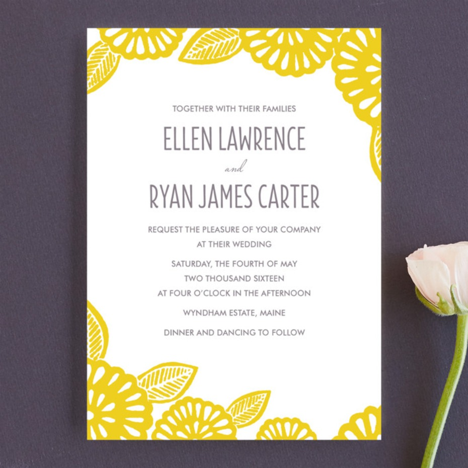 Minted Bold Block Print invitation
