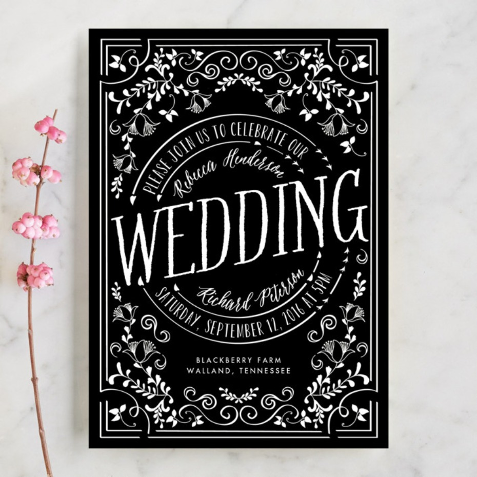 Minted Let's Get Married invitation