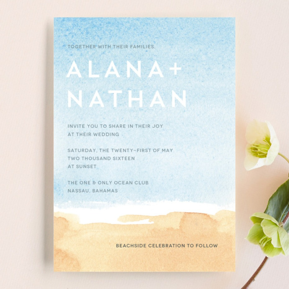 Minted Painted Sea invitation