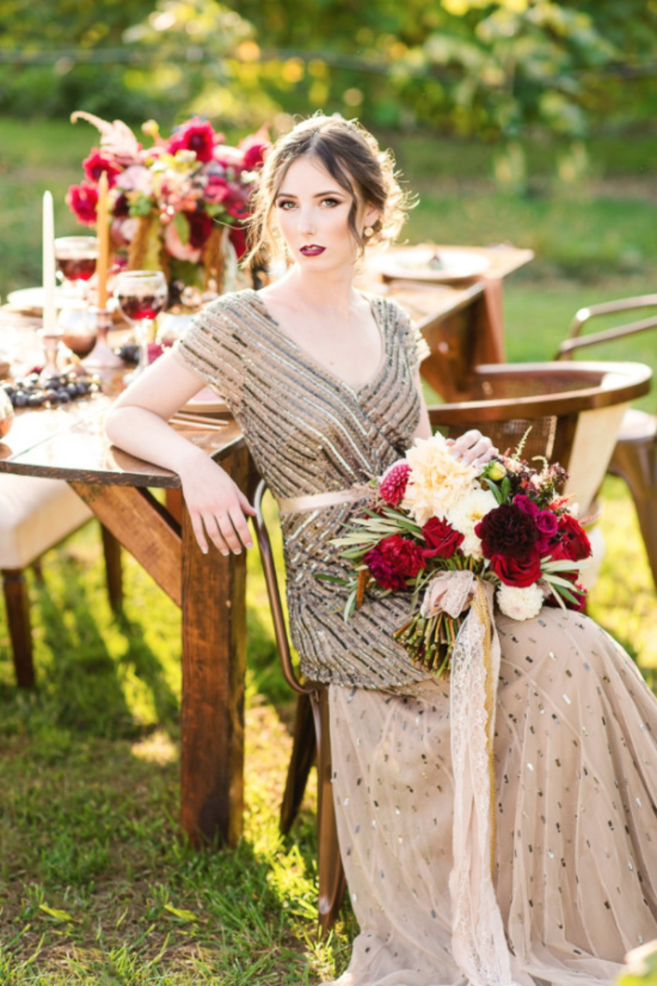 Copper And Merlot Wedding Ideas