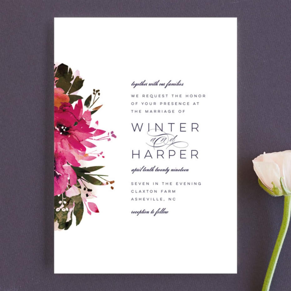 Minted Peeking Florals invitations