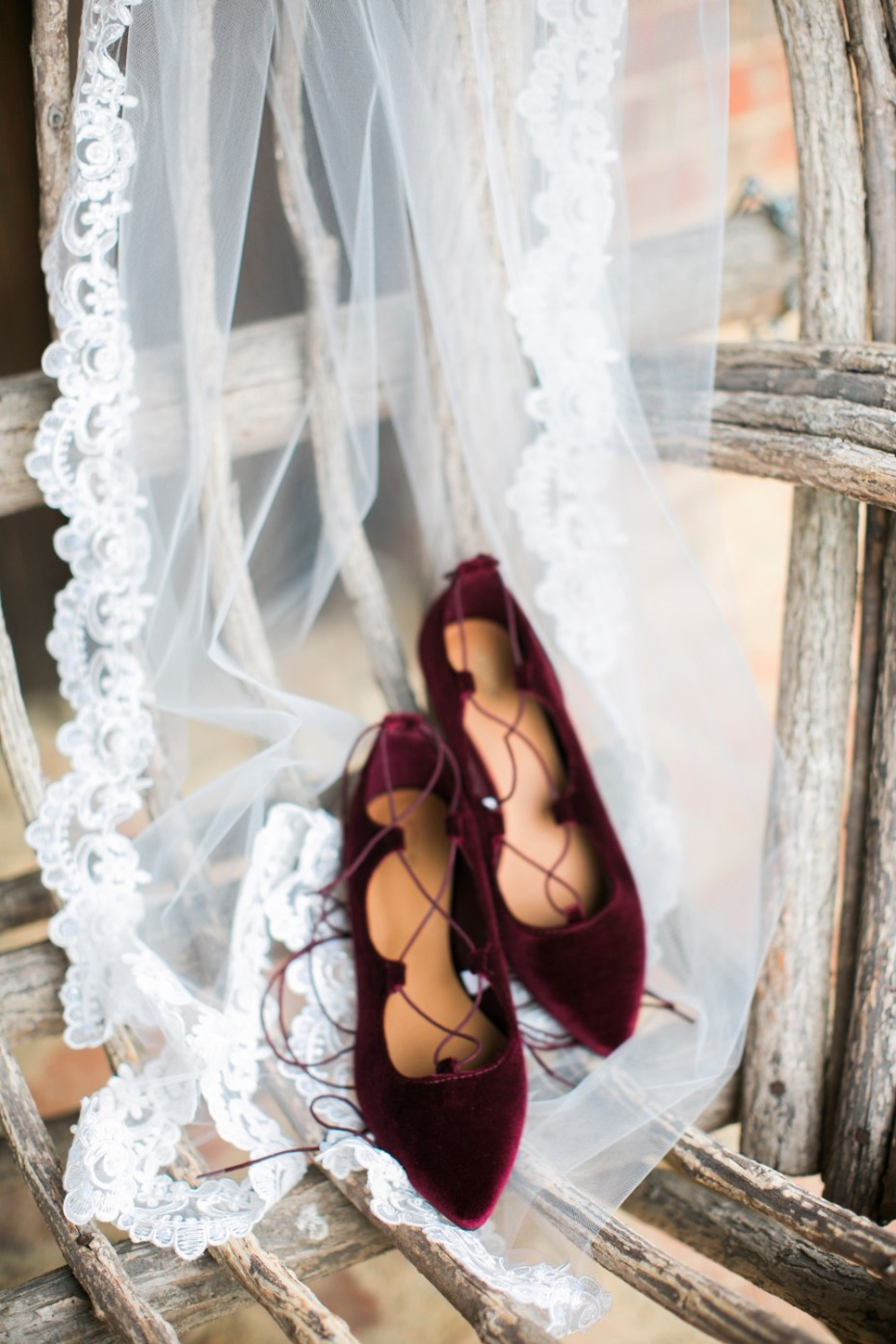 Cozy Bush and Burgundy Winter Wedding At The Farm