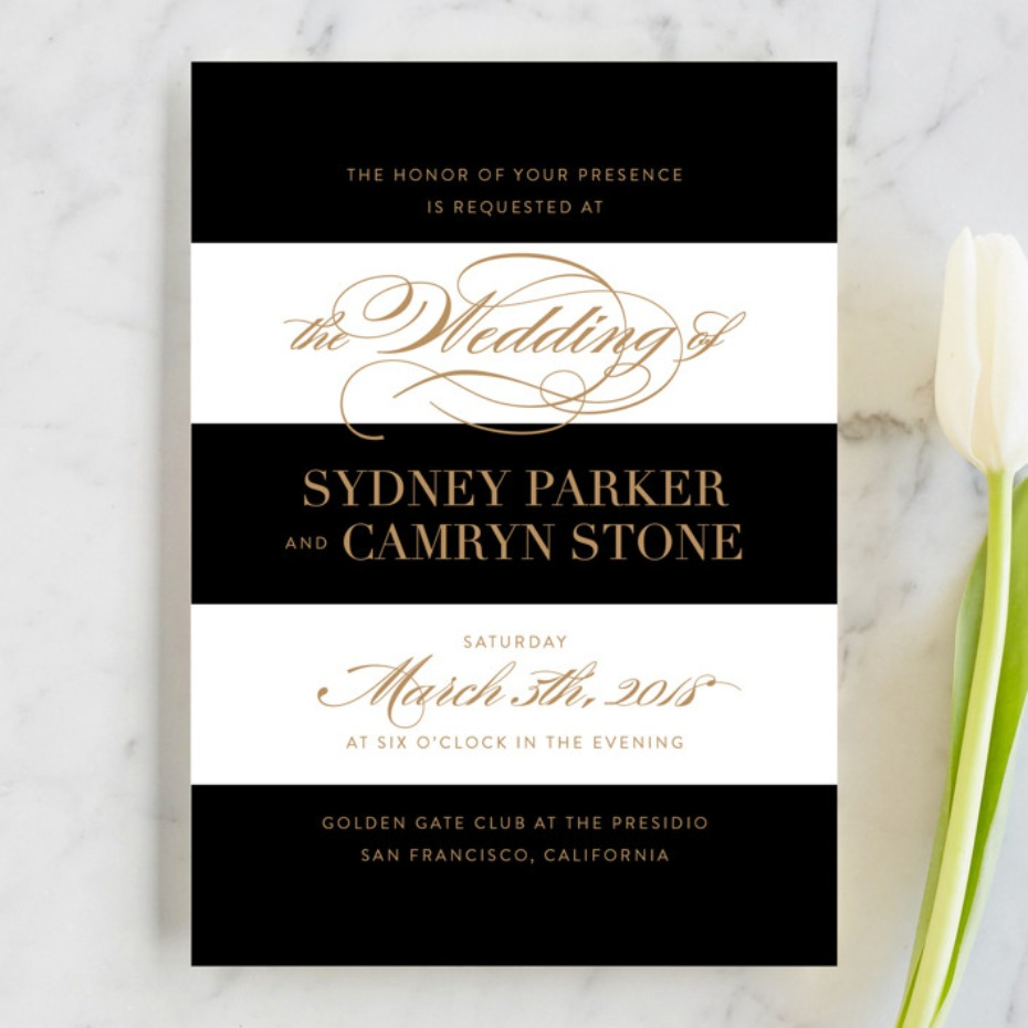 Minted Fashion District invitation