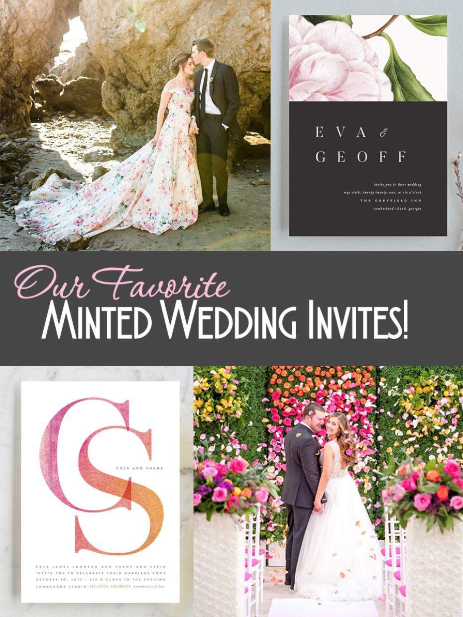 15 Of Our Favorite Minted Wedding Invitations Plus Wedding Ideas