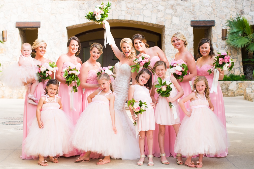 Soft and Romantic Bridesmaid Dresses for this amazing Cabo Destination Wedding.