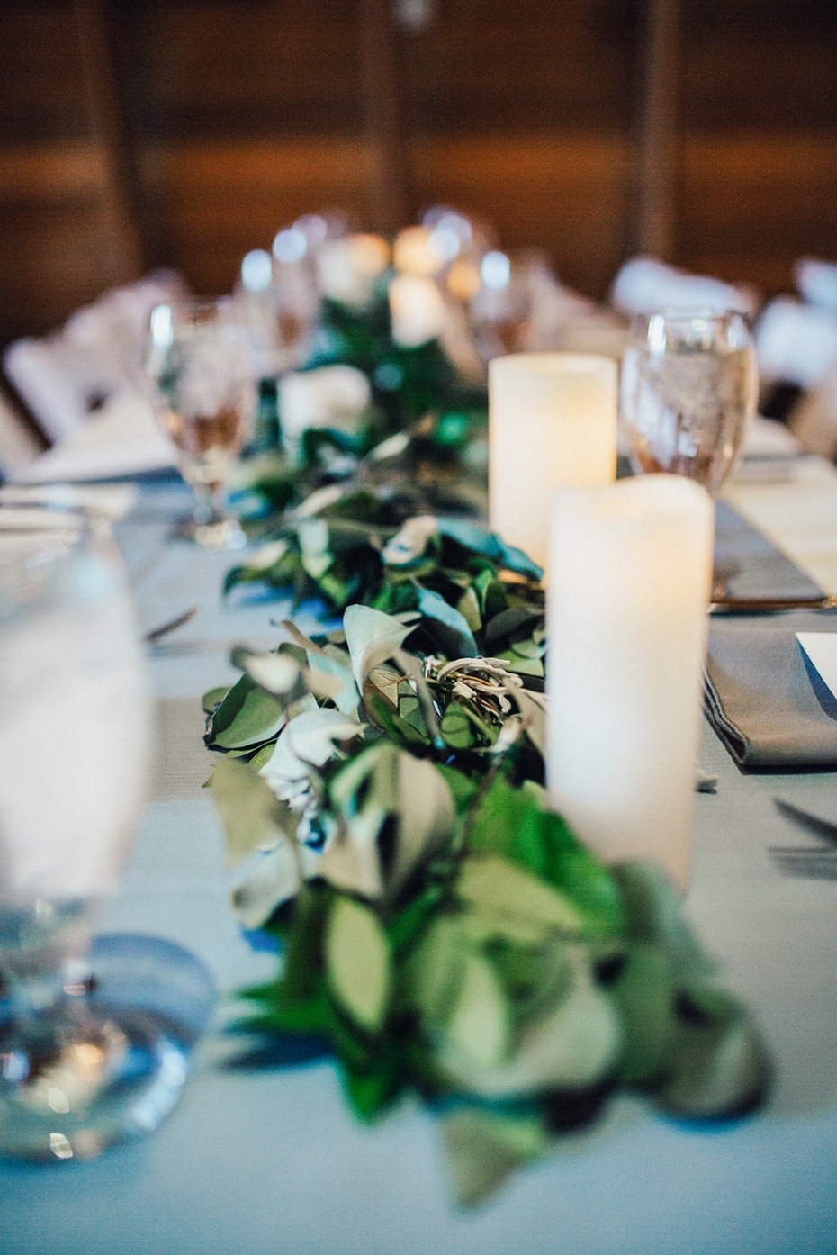 eucalyptus centerpiece idea