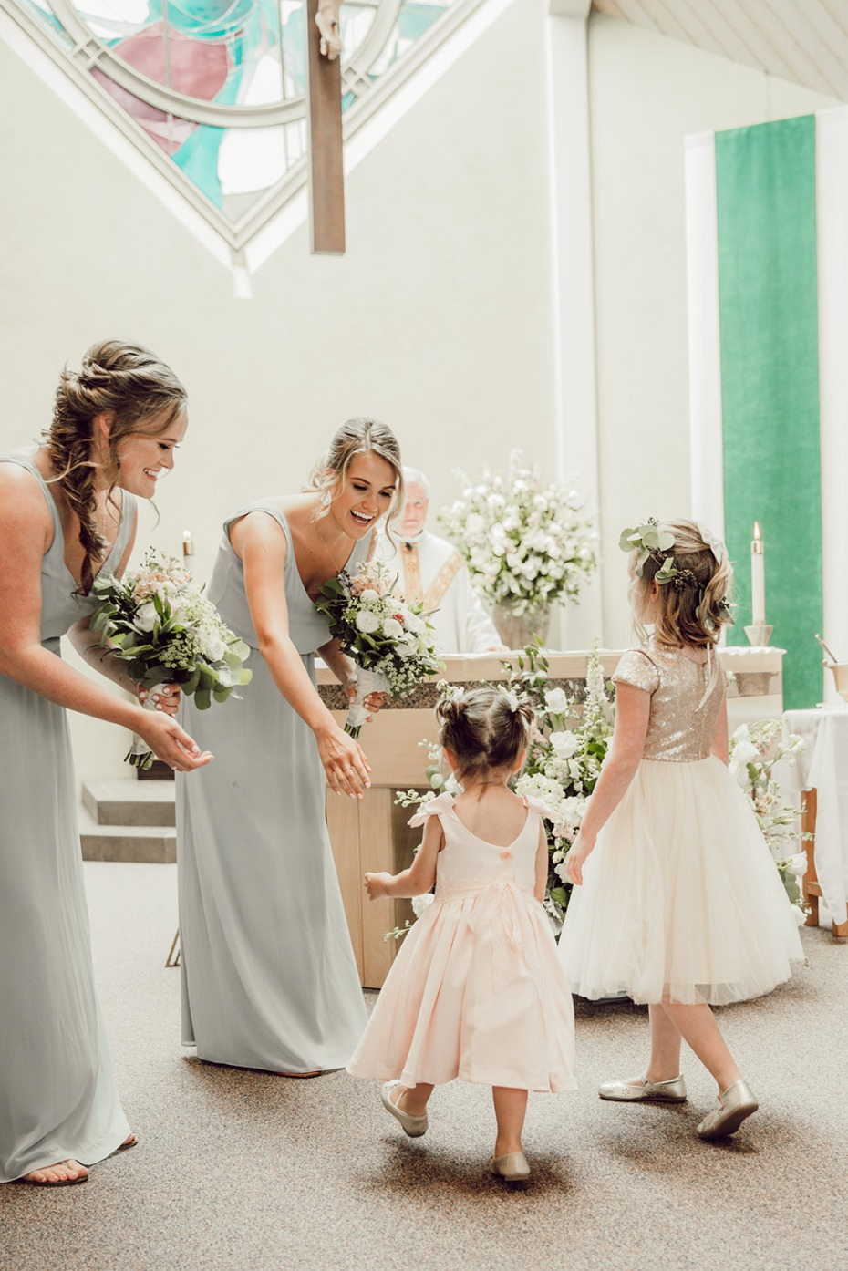 flower girls and bridesmaids