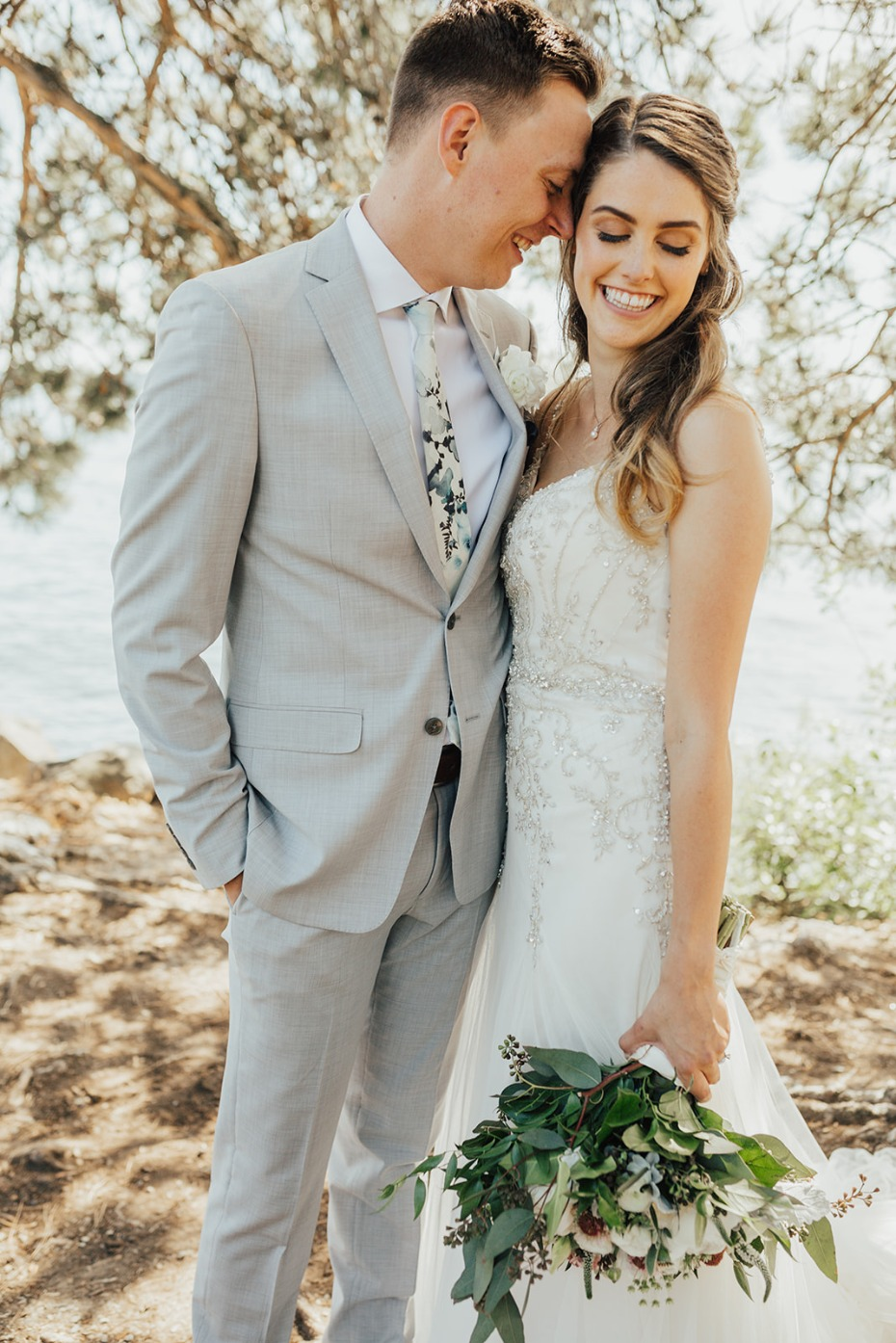 This Couples Soft Blue and Grey Big Day Nearly Had Us In Tears
