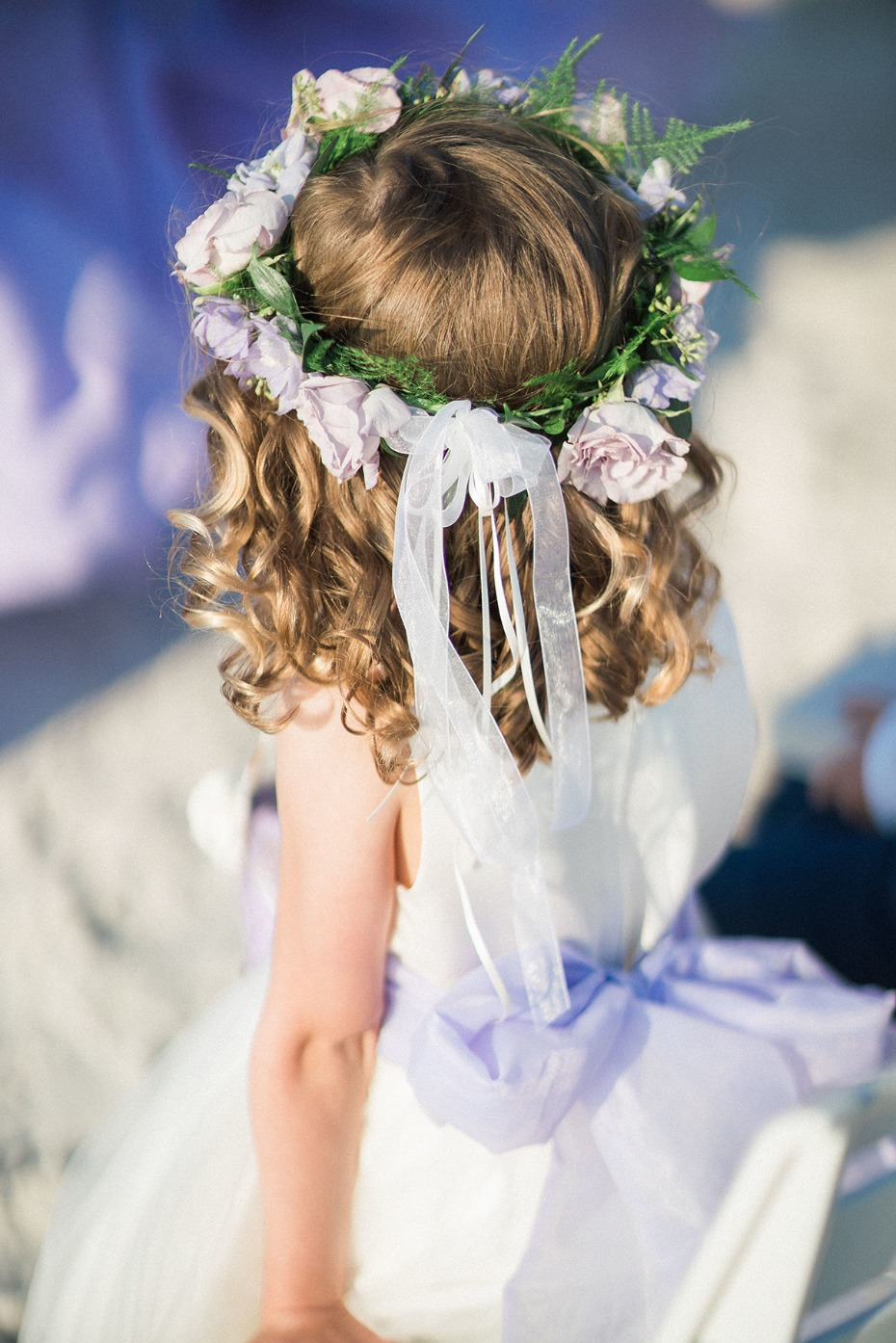 floral halo for the flower girl