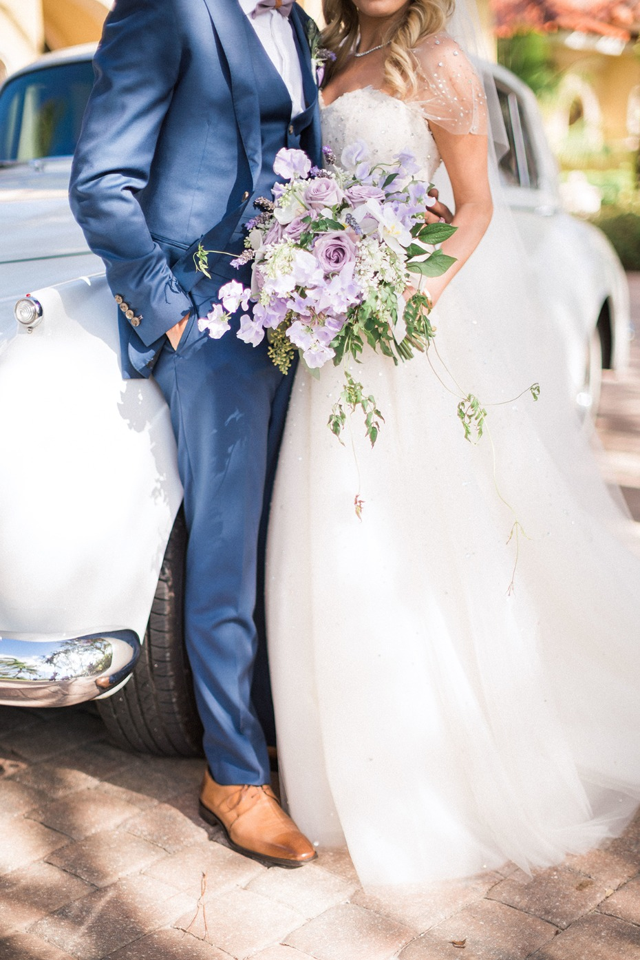 We Can't Get Enough Of This Glamorous Purple And Gold Beach Wedding