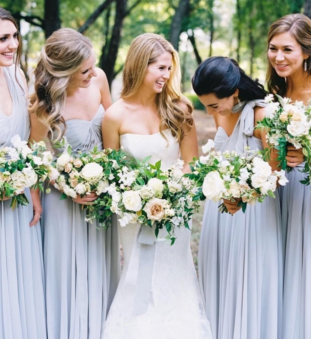 love how these girls each customized their look with the convertible mira #jycmira dress in whisper blue 😍 #jennyyoobridesmaids