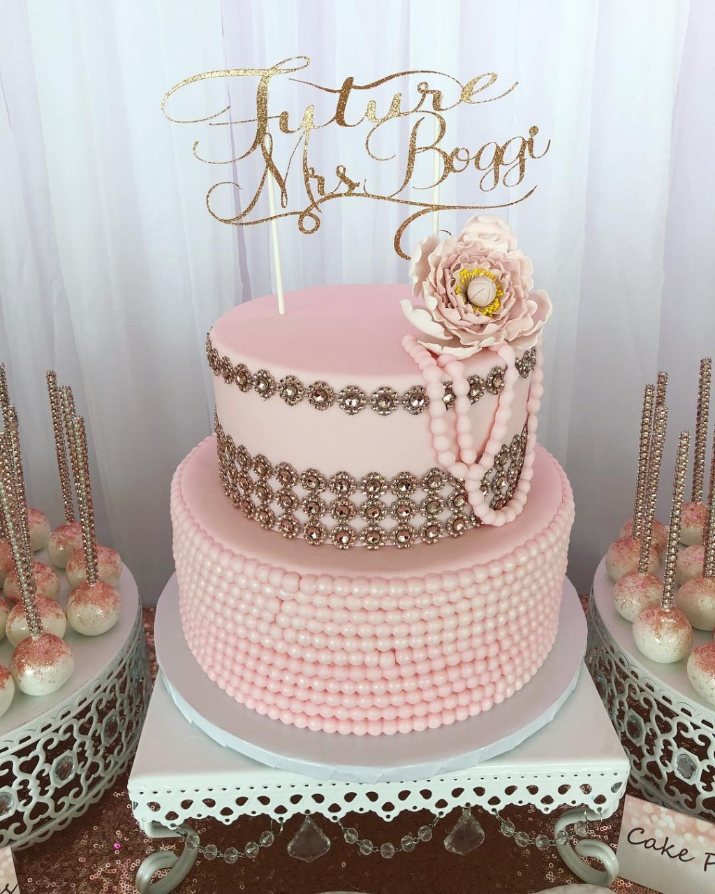 Pretty Pink Bridal Shower! Opulent Treasures collection of cake stands will help you shower the bride with love!