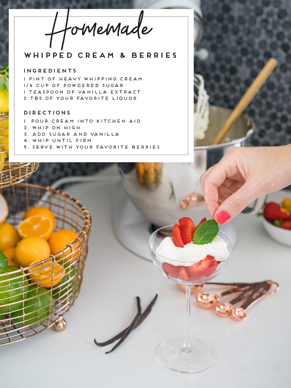 Homemade Whipped Cream And Berries