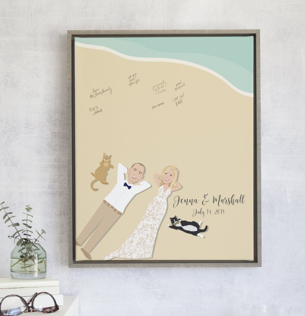 It's not too late to grab this amazing summery Beach Wedding Guest Book Alternative from Miss Design Berry! We'll put you and your