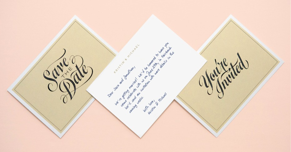 Handwritten Save The Date Cards