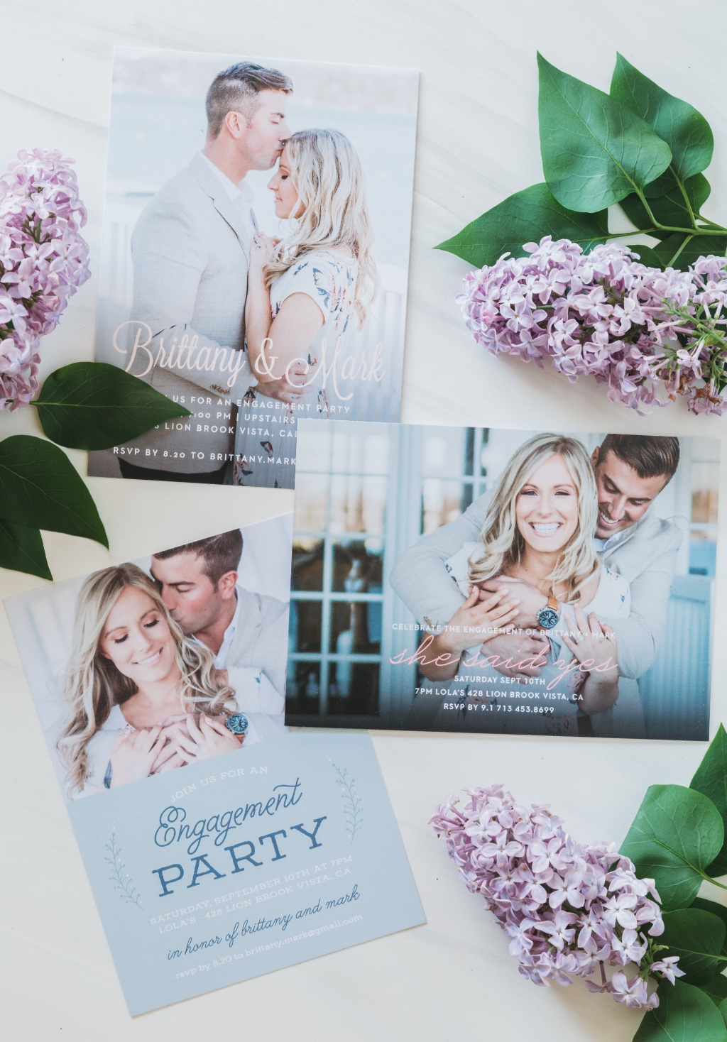 Our new engagement party invitation line is here and it's too cute! Choose a photo engagement to show off that bling and pop the bubbly