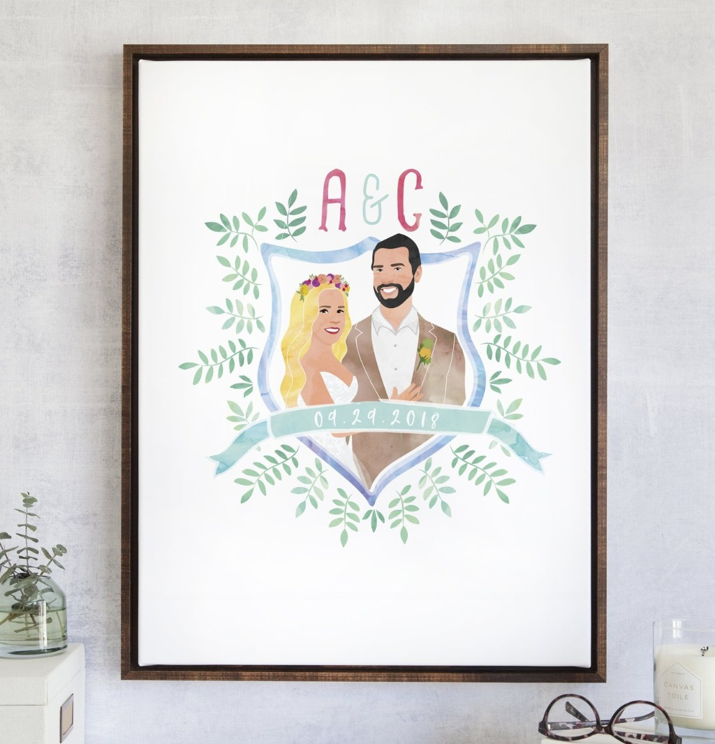 Remember when I mentioned we LOVE creating NEW designs over here at Miss Design Berry?? This AWESOME Wedding Watercolor Crest Guest