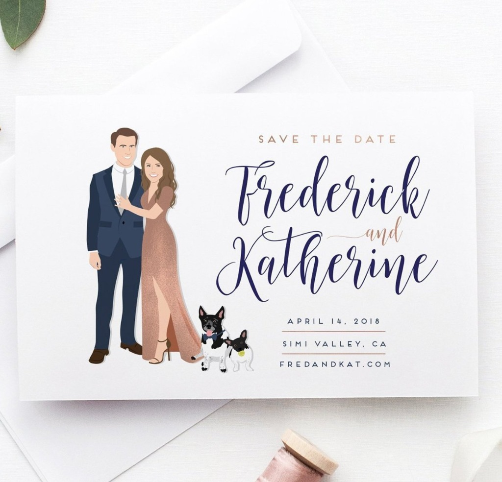 Save the Dates have really changed up the wedding game, so choosing the perfect look is super important! These Couple Portrait Save