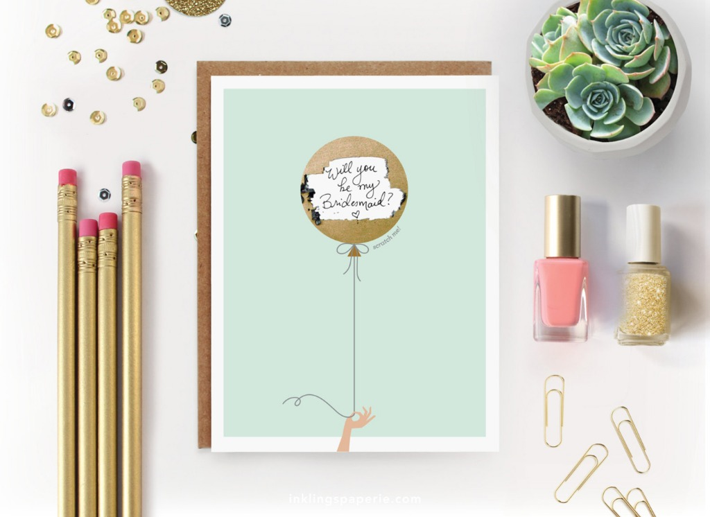 Perfect for your bridesmaid proposals! Make your own scratch-off card. Simply write your message in the space provided and cover it